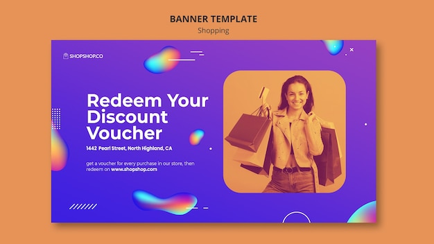 Banner shopping ad template