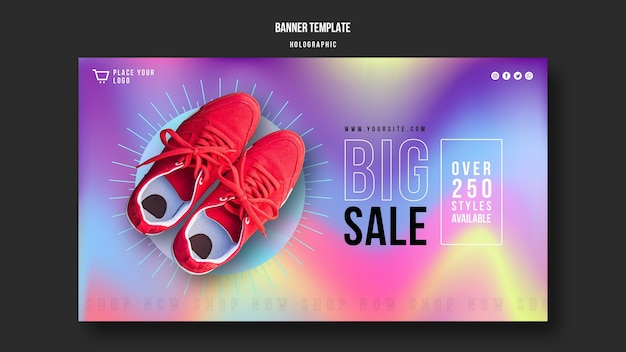 Banner sneakers sale ad template