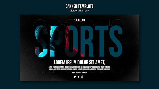 Banner sport ad template