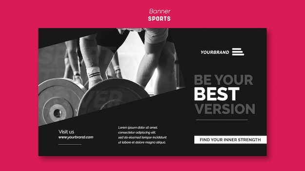 Banner sports ad template