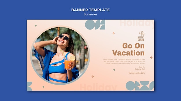 Banner summer travel template