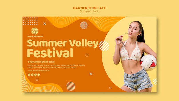 Banner for summer vacation