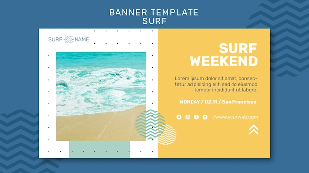 Banner surfing ad template