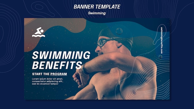 Banner swimming benefits template
