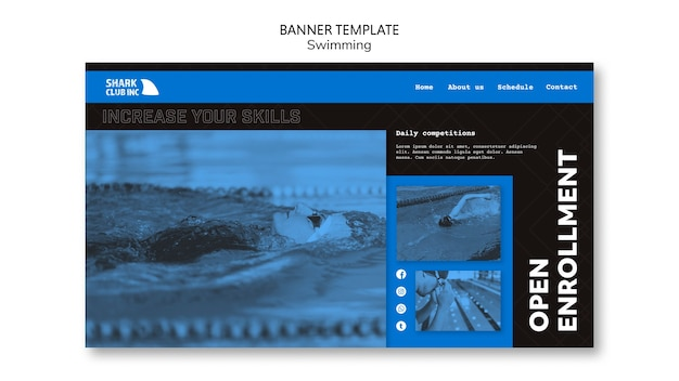 Banner swimming club template