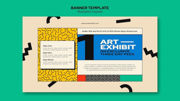 Banner template for art exhibition