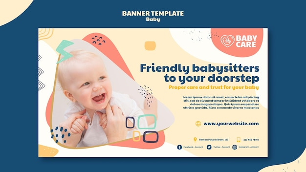 Banner template for baby care professionals