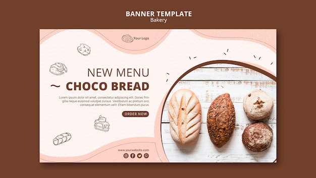 Banner template for bakery shop business