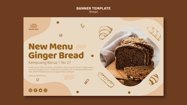 Banner template for bakery shop