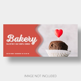 Banner template bakery valentine's day
