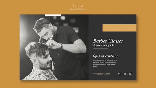 Modello di banner per lezioni di barbiere