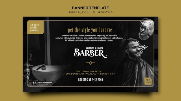 Banner template barber shop