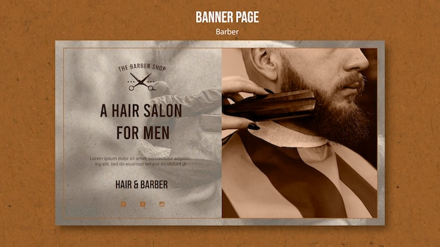Banner template for barber shop