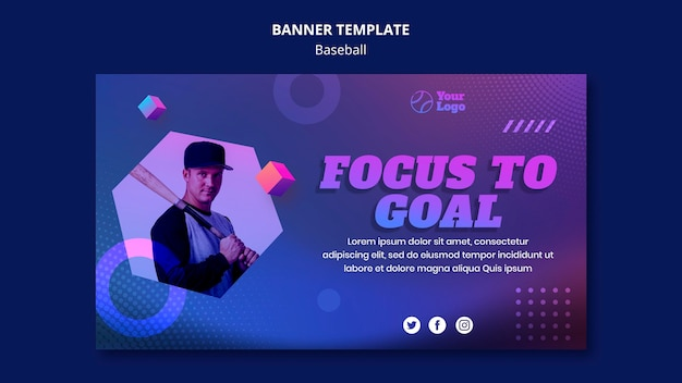 Banner template baseball training