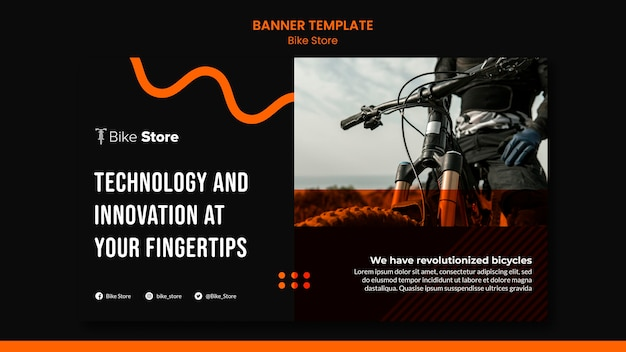Banner template for bike store