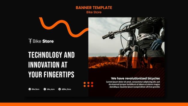 Modello di banner per negozio di biciclette