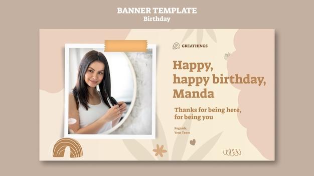 Modello di banner per la festa di compleanno