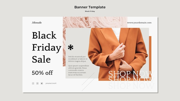 Banner template black friday