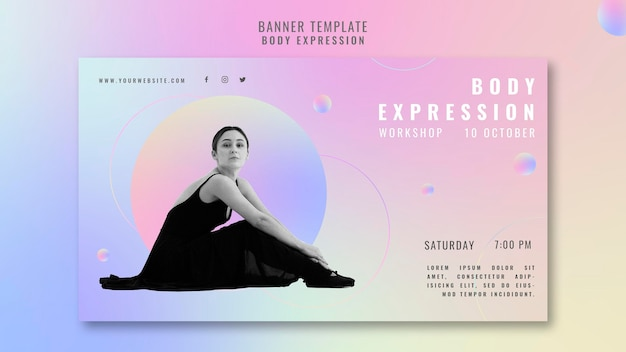 Banner template for body expression workshop
