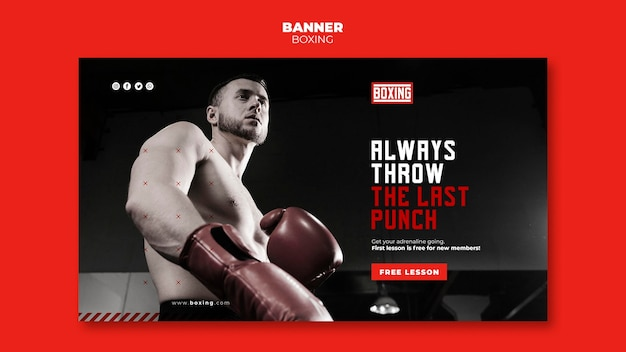 Banner template boxing ad
