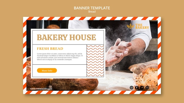 Banner template bread business
