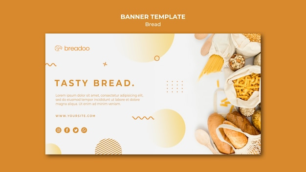Banner template for bread cooking business