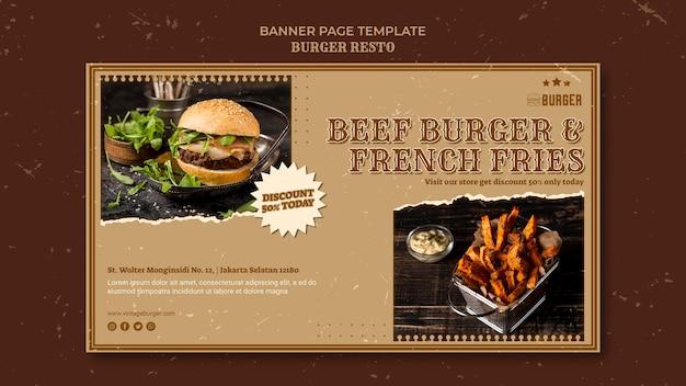 Banner templatefor burger restaurant