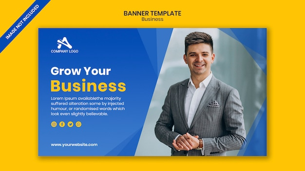 Banner template for business event