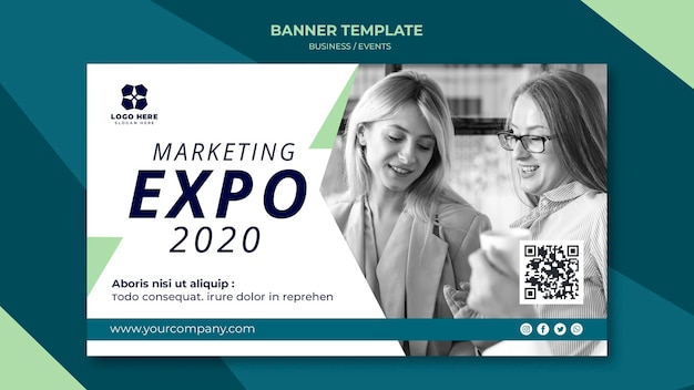 Banner template for business expo