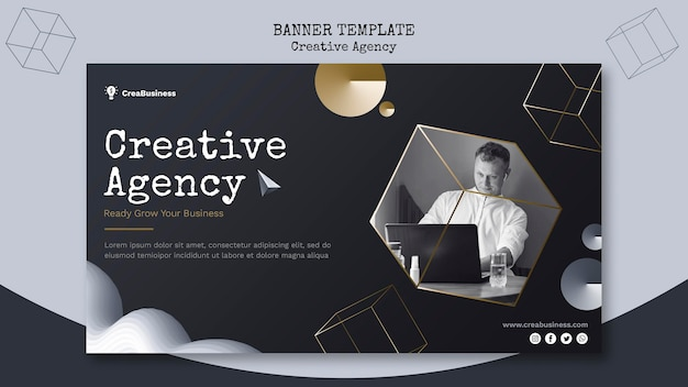 Banner template for business partnering company