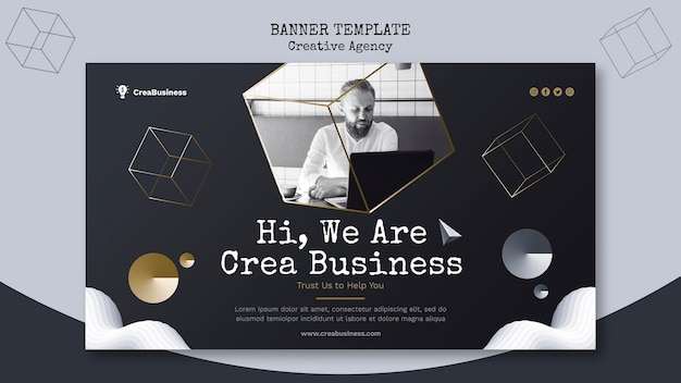 Banner template for business partnering company Free Psd