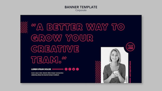 Banner template for business team
