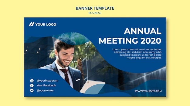Banner template for business