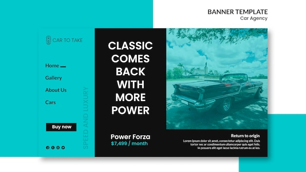 Banner template car agency