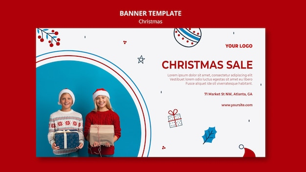 Banner template for christmas