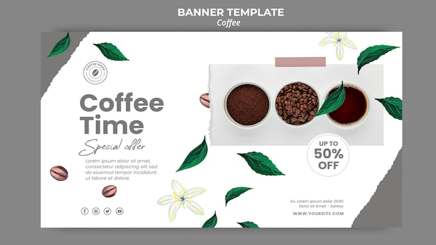 Banner template for coffee