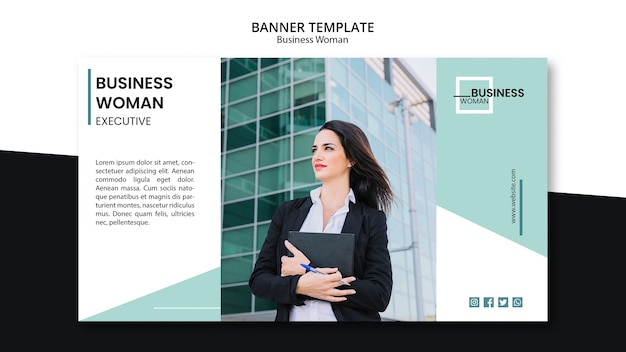 Banner template concept for business