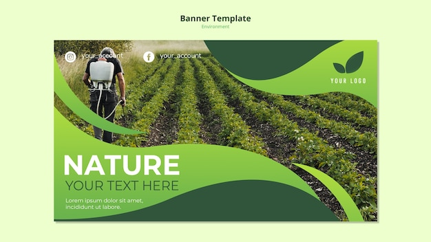 Banner template concept of nature environs