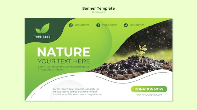 Banner template concept of nature