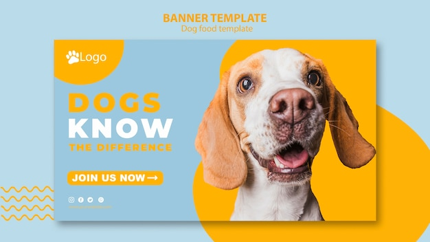 Banner template concept for pet shop