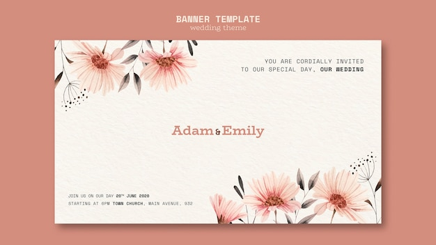 Banner template concept for wedding