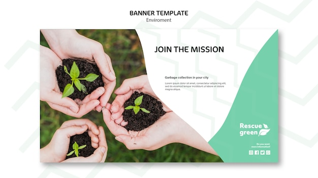 Banner template concept with environment