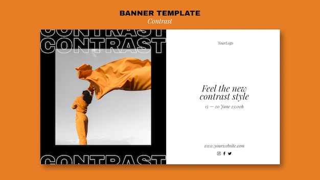 Banner template for contrasting style