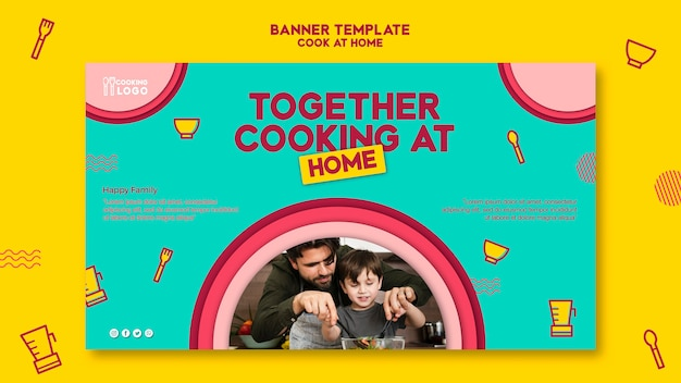 Banner template for cooking at home