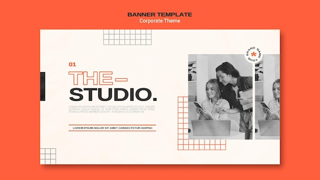 Banner template for corporate studio