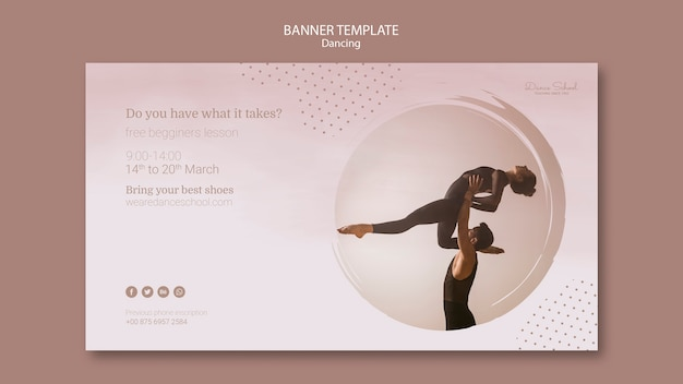 Banner template for dancing performers