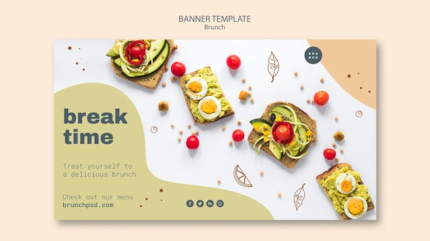Banner template for delicious brunch