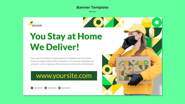 Banner template for delivery company