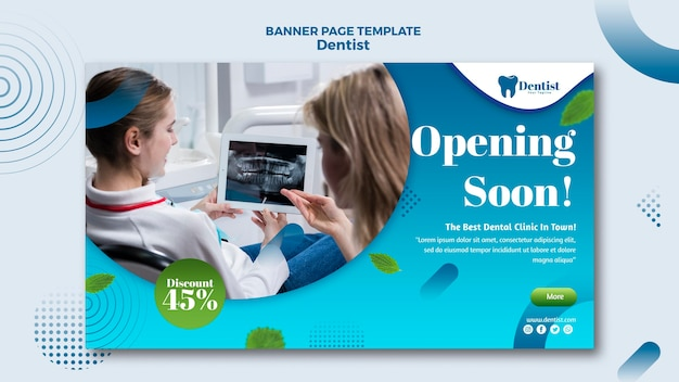 Banner template for dental care