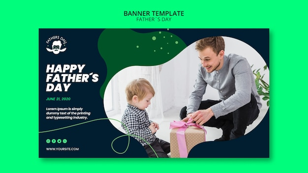 Banner template design for fathers day